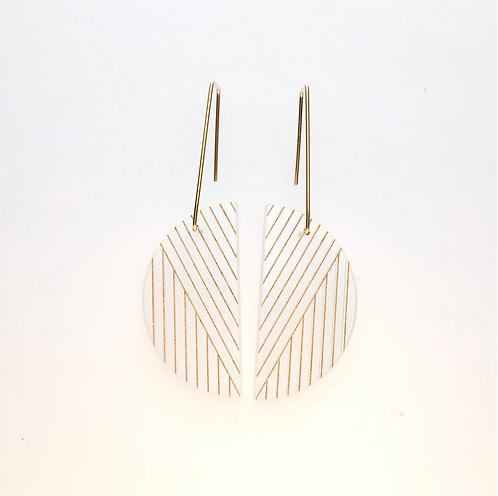 Alta Earrings - Acrylic & Soft Gold