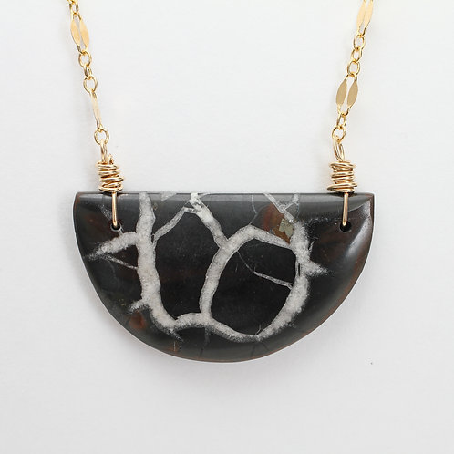 Half Moon Septarian Necklace
