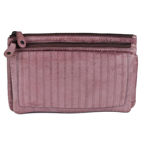 Eero Interwoven Clutch Handbag - Scarlet