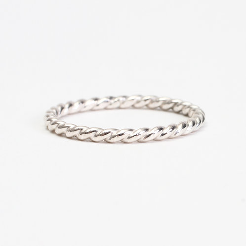 Sterling Silver Twisted Rope Stack Ring