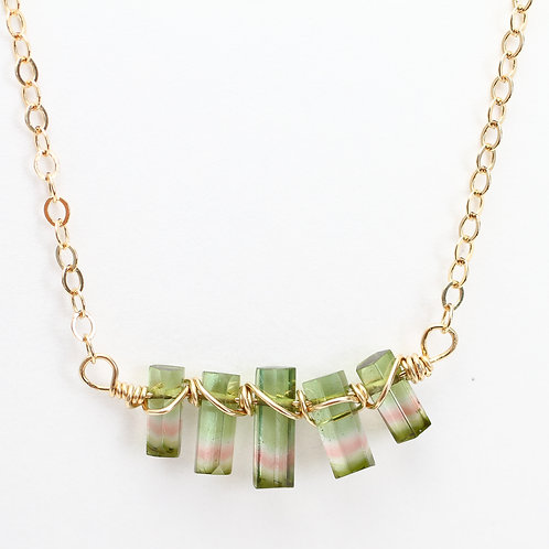 AAA Quality Watermelon Tourmaline Necklace