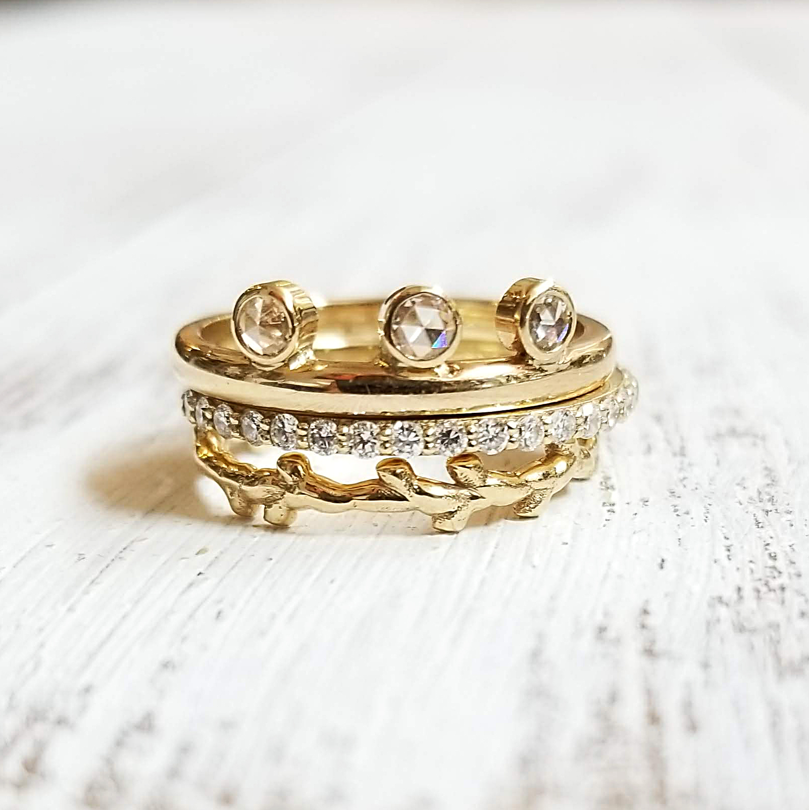 Wedding Band Stack