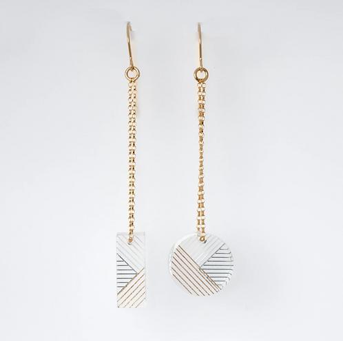 Osa & Oda Earrings - Azul & Gold