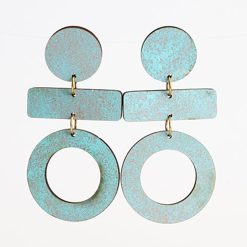 Olive Earrings - Patina