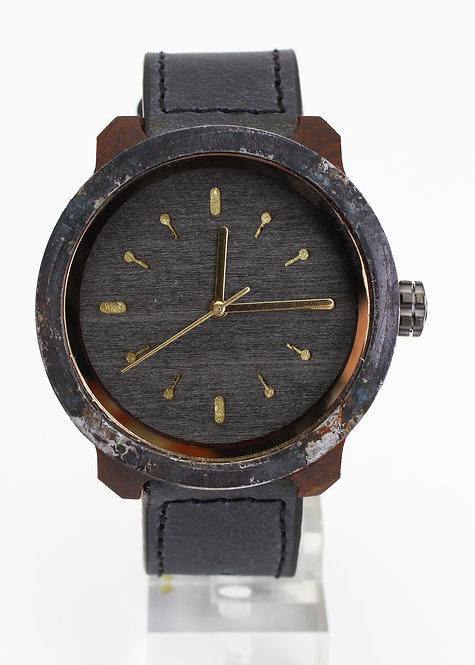 Marco XL Black Mistura Watch with Timber Face