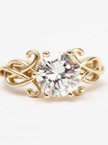 Custom Engagement Ring with Family Diamond.