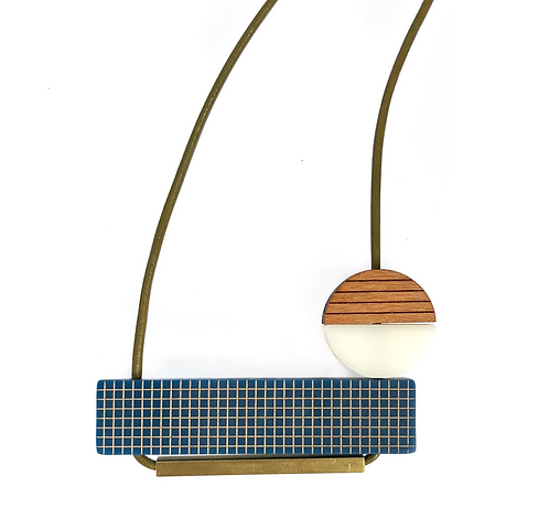 Pia Necklace - Leather