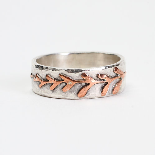 Silver & Copper Fern Ring