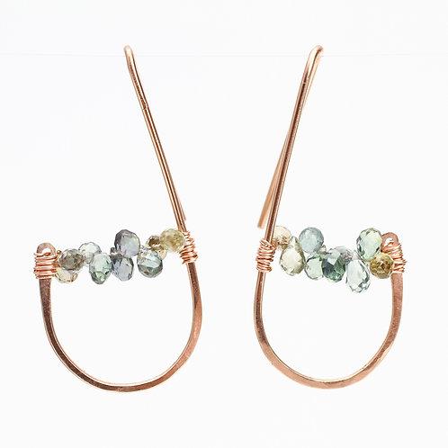 Funky Sapphire Threader Earrings