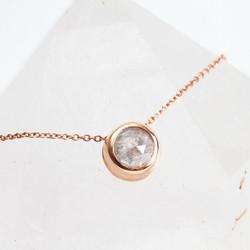 Grey Rose Cut Diamond Necklace