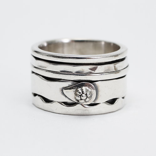 Chunky Silver Spinner Ring
