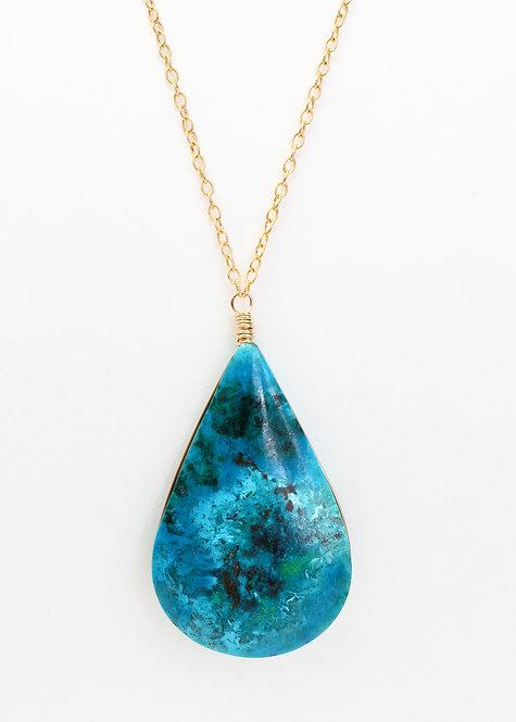 Chrysocolla Pendant Necklace