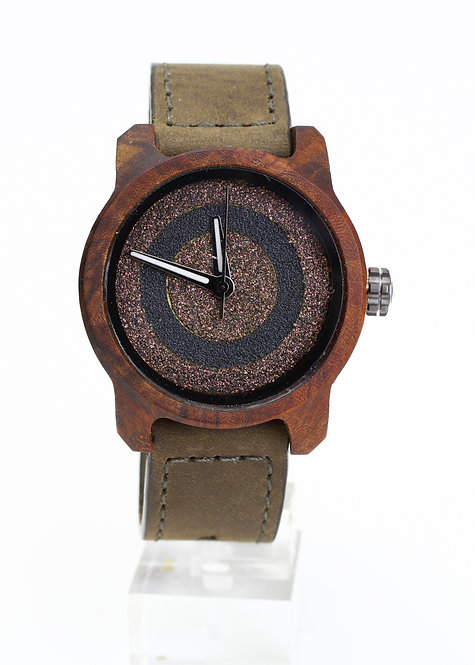 Marco Army Green Mistura Watch - Gold Target Face