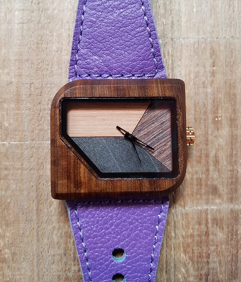 Avanti Violet Pui Wood Timber 2 Watch