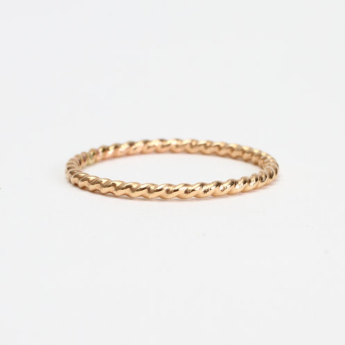 Yellow Twisted Rope Stack Ring