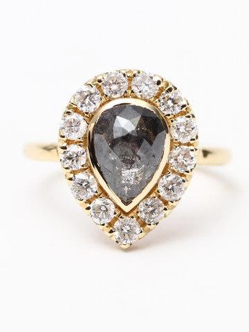 Custom Pear Diamond Ring