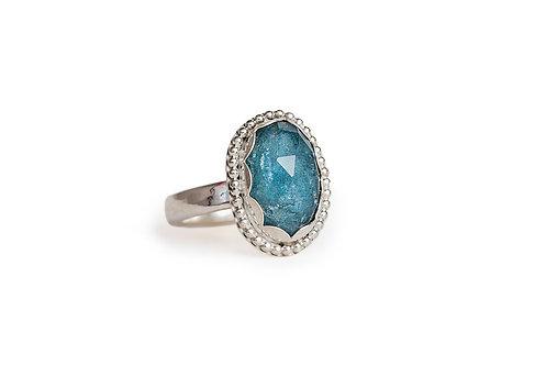 Moss Aquamarine Ring
