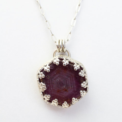 Fancy Ruby Pendant Necklace