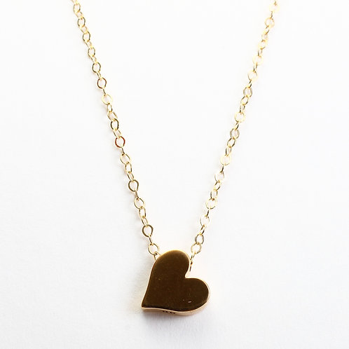 Brass Solid Heart Necklace