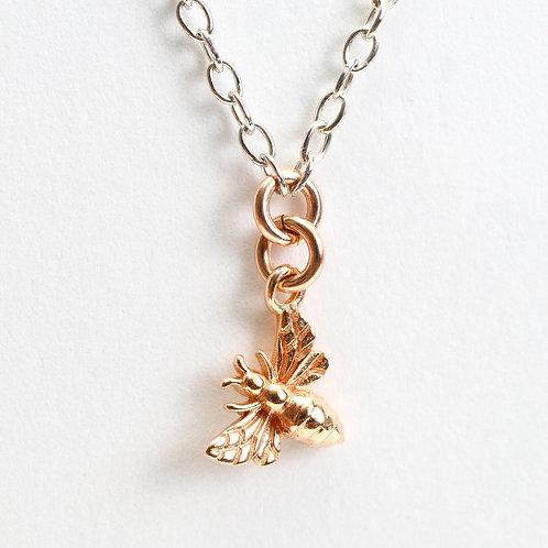 Tiny Bee Charm Choker Necklace