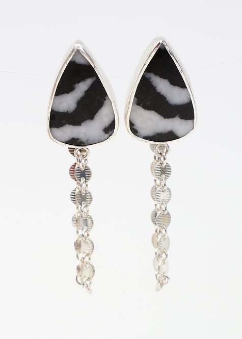 Zebra Jasper Earrings/Ear Jackets