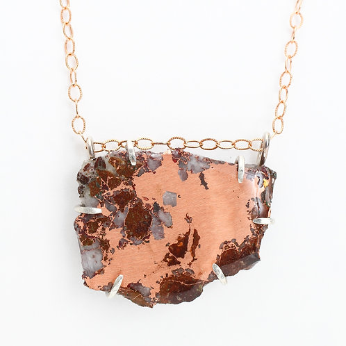Michigan Native Copper Ore Necklace
