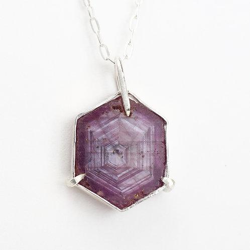 Trapiche Sapphire Necklace