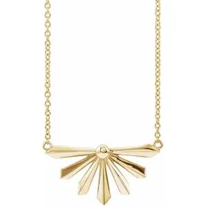 14K Yellow Starburst Necklace