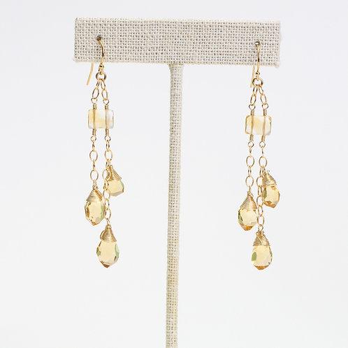 Citrine & Fancy Citrine Earrings