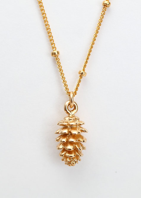 Pinecone Charm Necklace