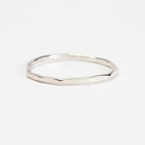 Sterling Silver Hammered Stack Ring