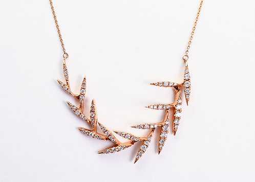 Waterfall Diamond Leaf Necklace