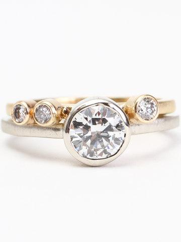 Custom Engagement Ring & Wedding Band Set.