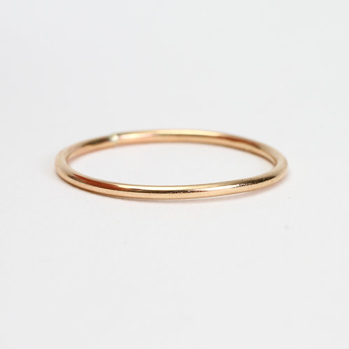Yellow Classic Polished Stack Ring