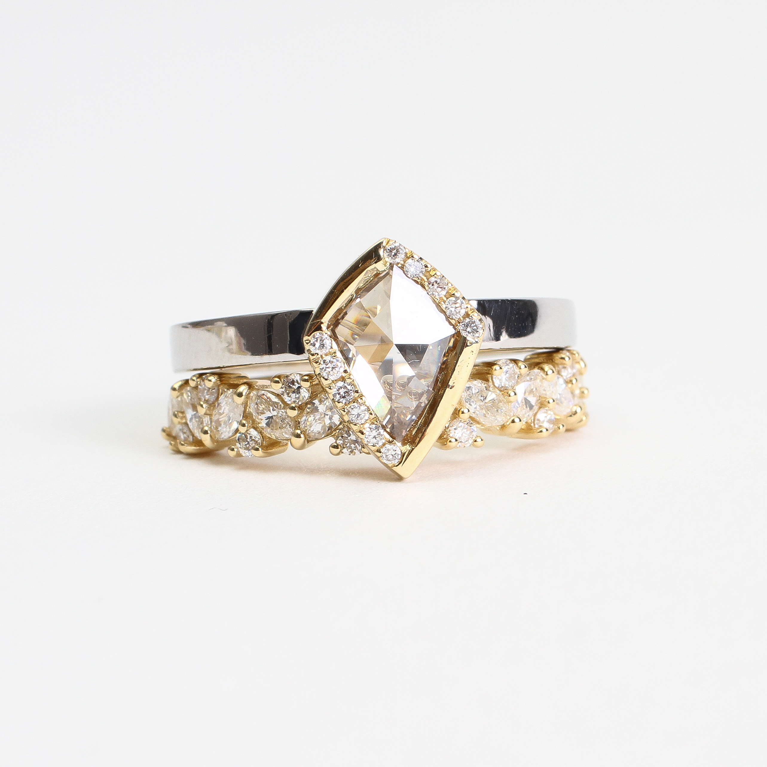 Champagne Diamond Ring Set