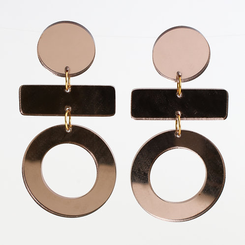 Olive Earrings - Bronze Mirror
