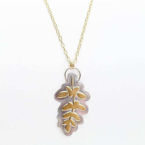 Unisex Leafy Fern Necklace