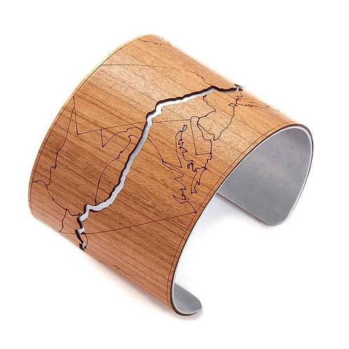 Appalachian Trail Wooden Cuff (Cherry)