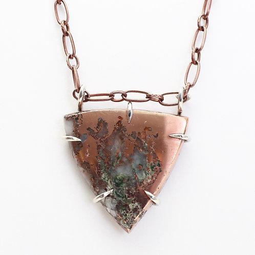 Michigan Native Copper in Quartz Necklace