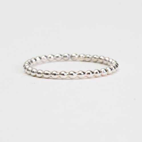 Sterling Silver Beaded Stack Ring