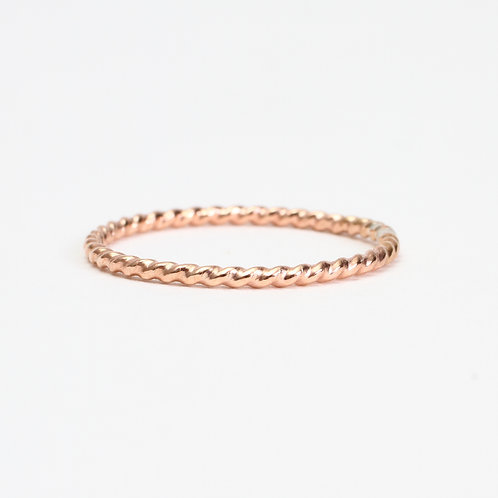Rose Twisted Rope Stack Ring