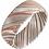 Thumbnail: Damascus Steel 8 mm Flat Patterned Band