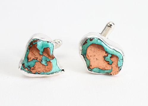 Splash Copper Cufflinks