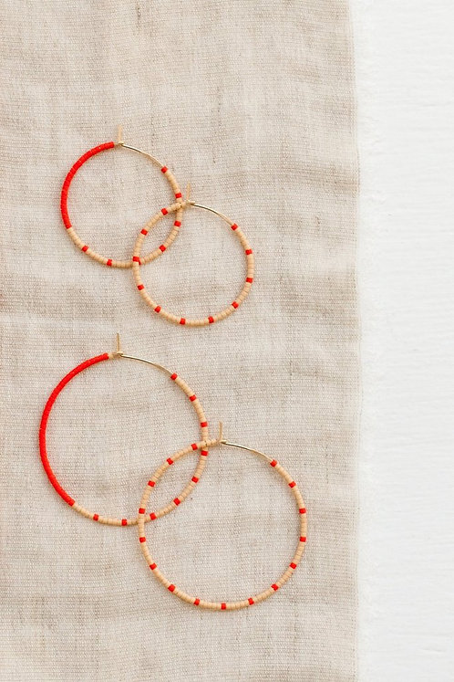 Loma Earrings - Blush/Red (Small)