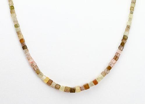 17.5ct Multicolor Diamond Cube Necklace