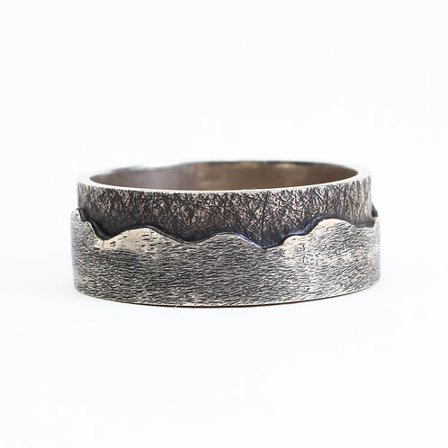 """Blue Ridge Mountain Band"" - Wide - Sterling Silver"