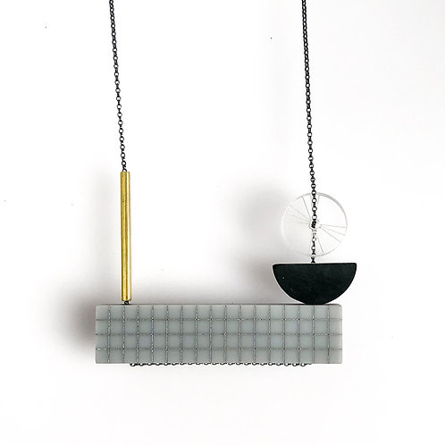 Pia Necklace - Grey/Black