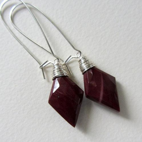 Mookaite Jasper Kidney Drop Earrings