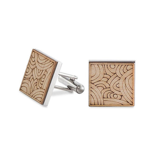 Wooden Tribal Cufflinks