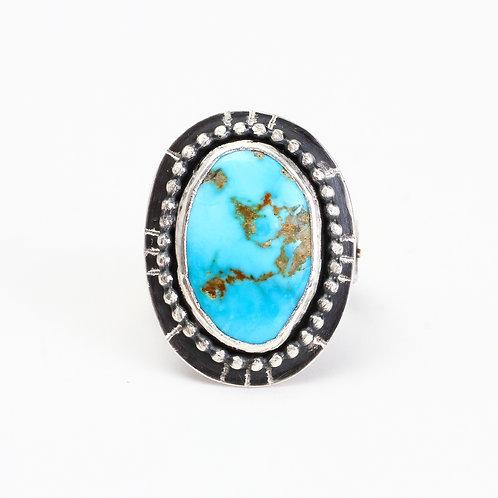 Turquoise & Fern Ring